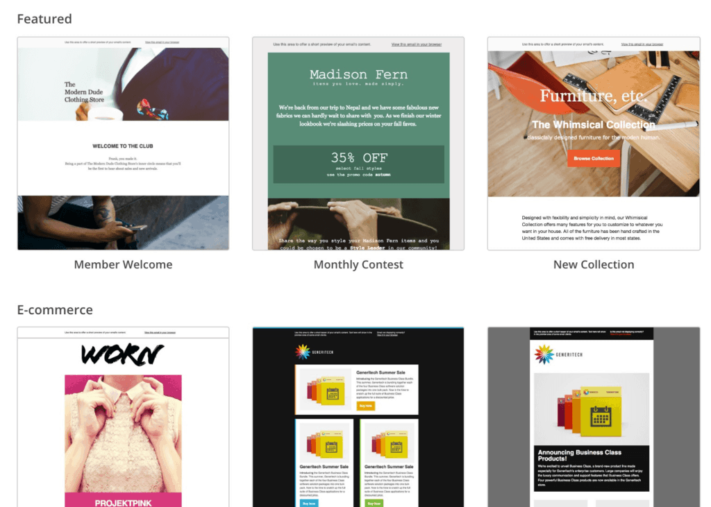 Mailchimp Email Templates Library